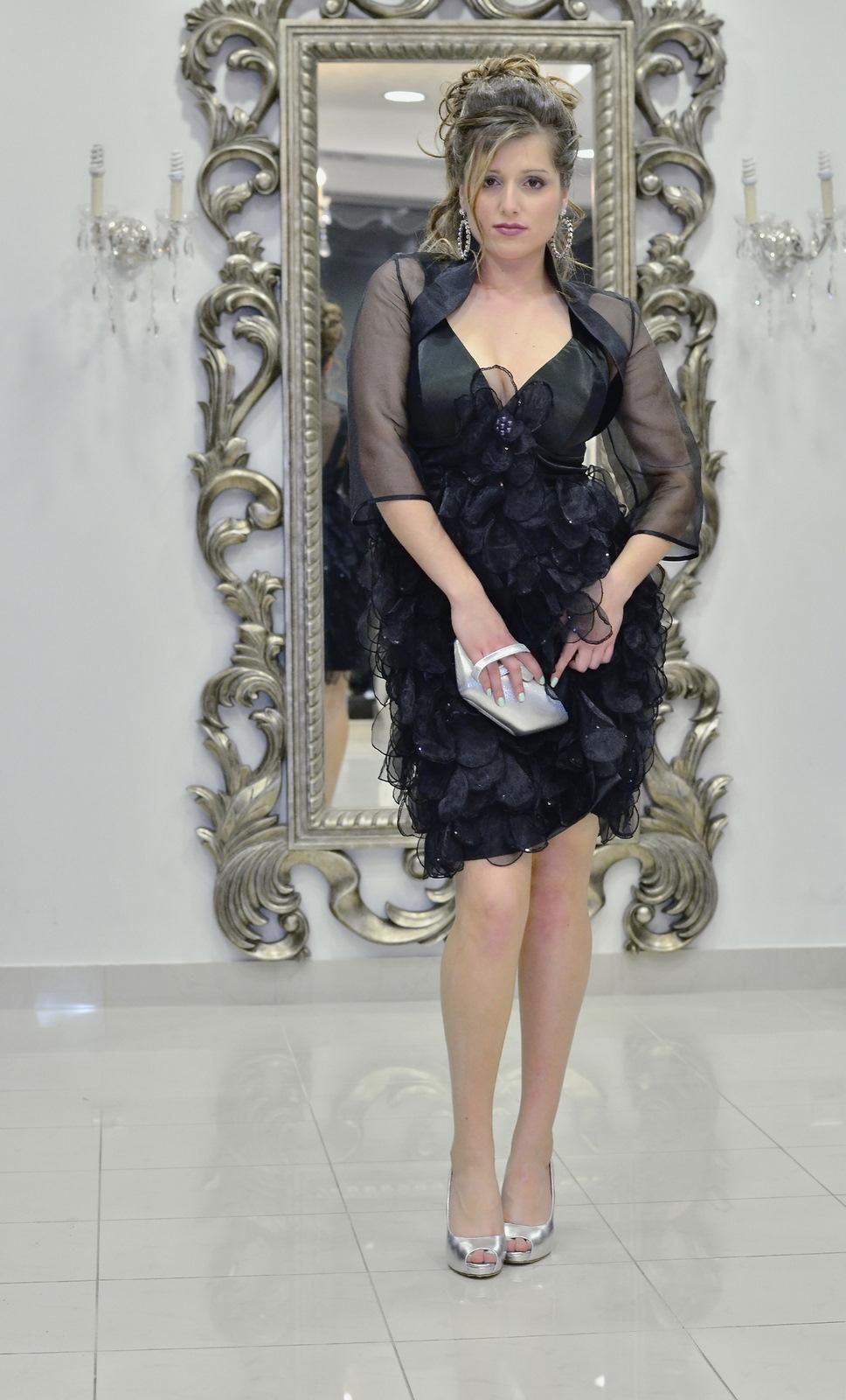 Φόρεμα και μπολερό σατέν-οργαντίνα