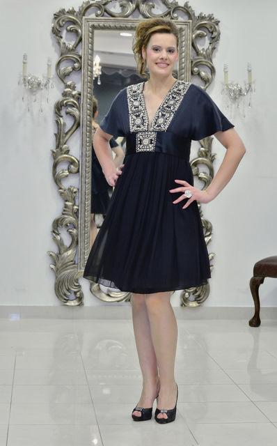 Βραδυνό φόρεμα σατέν-ζορζέτα