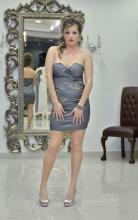 Βραδυνό ελαστικό φόρεμα