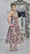 Βραδυνό φόρεμα ολομέταξο εμπριμέ