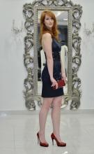 Βραδυνό φόρεμα ελαστικό σατέν
