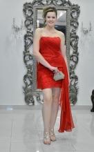 Βραδυνό φόρεμα δαντέλα-μεταξωτή μουσελίνα