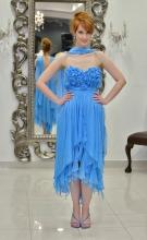 Βραδυνό φόρεμα ολομέταξη μουσελίνα