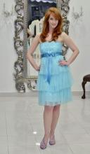 Φόρεμα τούλι-δαντέλα