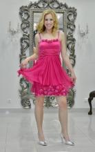 Φόρεμα μεταξωτό σατέν-μουσελίνα