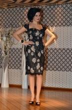 Βραδυνό φόρεμα δαντέλα και χειροποίητο περικάρπιο