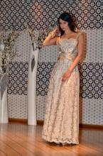 Βραδυνό φόρεμα/νυφική τουαλέτα δαντέλα-σατέν-μεταξωτή μουσελίνα