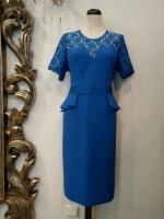 Βραδυνό φόρεμα ελαστικό κρεπ-δαντέλα
