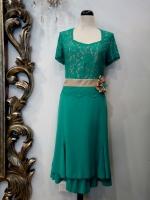 Βραδυνό φόρεμα κρεπ-δαντέλα