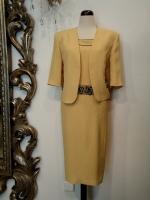 Βραδυνό φόρεμα φόρεμα-ζακετάκι κρεπ