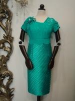 Βραδυνό φόρεμα δαντέλα-σατέν